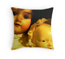 faces from the past Throw Pillow