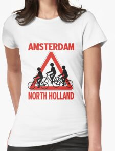 AMSTERDAM, NORTH HOLLAND Womens Fitted T-Shirt
