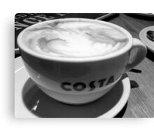 COFFEE AT COSTA Canvas Print