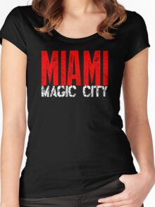 Miami Magic City 305 Wynwood South Beach Women's Fitted Scoop T-Shirt