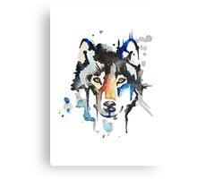 Watercolour Wolf Canvas Print