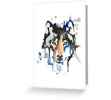 Watercolour Wolf Greeting Card