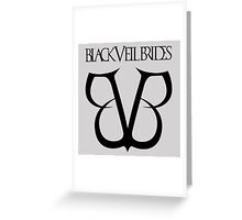 Black Veil Brides Logo Greeting Card