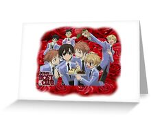 Ouran Cast Greeting Card