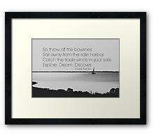 Mark Twain Explore Framed Print