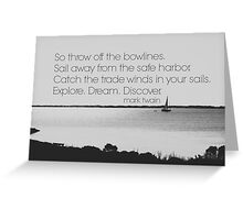 Mark Twain Explore Greeting Card