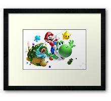 Mario & Yoshi Framed Print