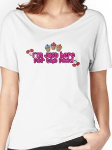 Cute sweet cupcakes, cherries & strawberries Women's Relaxed Fit T-Shirt
