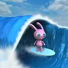 Surfer Bunny by johnnyz
