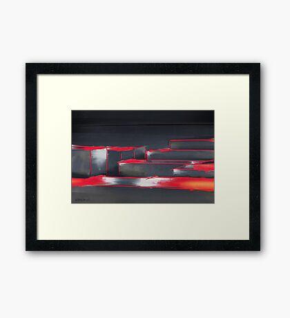 Red Maze Framed Print