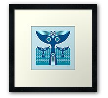 whale tails Framed Print