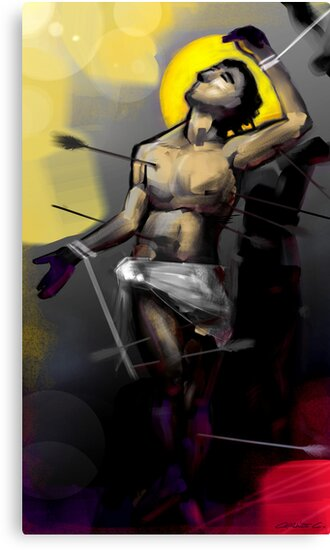 Saint Sebastian Martyrdom I by Charlize Cape