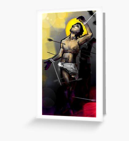 Saint Sebastian Martyrdom I Greeting Card