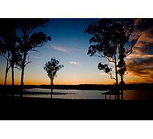 Sunset Dam Photographic Print