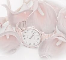 Calla Lilies And Watch by Sandra Foster