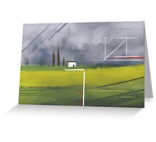 Geometrical Landscape I Greeting Card
