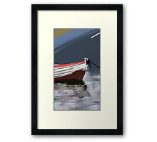 Fishermans boat deconstruction Framed Print