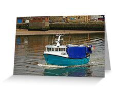 The Olivia Rose In Whitby Lower Harbour Greeting Card