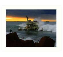 power generated by waves Art Print