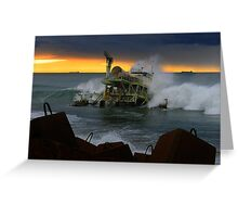 power generated by waves Greeting Card