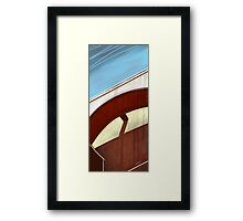 Sun on concrete arc I Framed Print