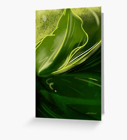 Self-reflecting leaf Greeting Card