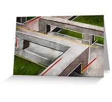 Concrete footbridge I Greeting Card