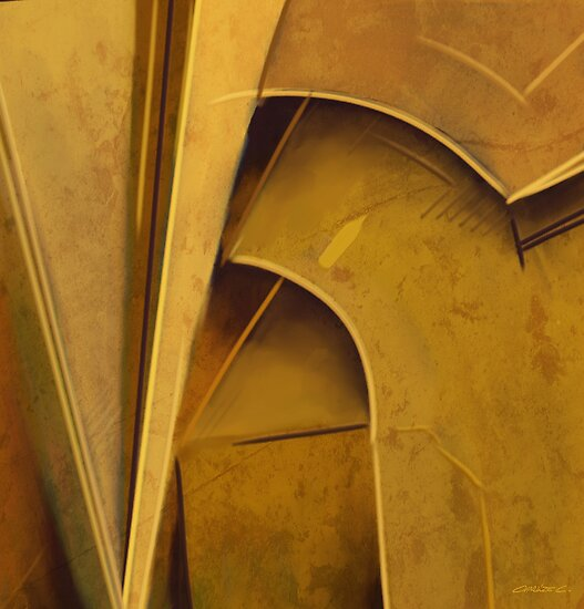 Ochre Form Study I by Charlize Cape