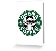 Ohana Coffee Greeting Card
