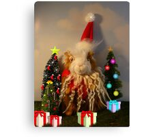 Rhino's Excellent Christmas Canvas Print
