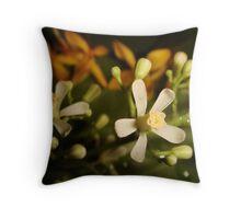 Neem Flower Throw Pillow