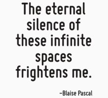 The eternal silence of these infinite spaces frightens me. by Quotr