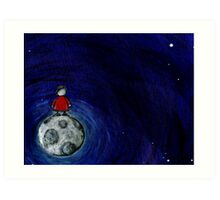 The View From the Moon For You. Art Print