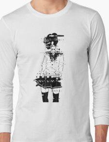 glitch girl Long Sleeve T-Shirt