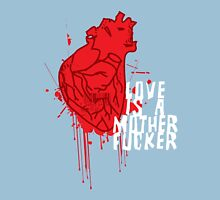 LOVE IS A MOTHERFUCKER Womens Fitted T-Shirt