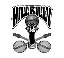Hillbilly Skull Photographic Print