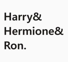 Harry & Hermione & Ron by Carol Oliveira