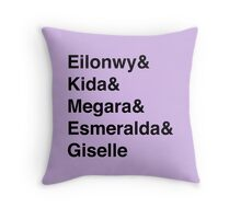 Second Tier Princesses Throw Pillow