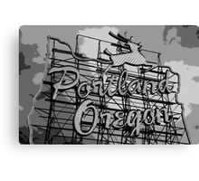 Welcome to Portland (Posterized) Canvas Print
