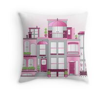 Raspberry City with a Misty Morning Sky... Throw Pillow
