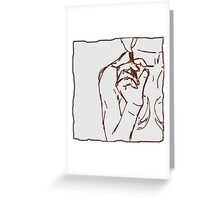 brown ink cigarette sketch Greeting Card