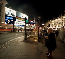 Piccadilly night by nick board