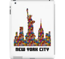 Statue of Liberty New York City Skyline Made With Lego Like Blocks iPad Case/Skin