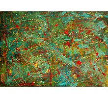 Abstract art in Jackson Pollock style Photographic Print