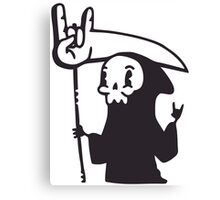 Death Metal Grim Reaper Canvas Print