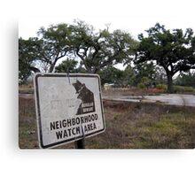 Neighborhood Watch Canvas Print