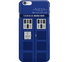 Tardis Music Box Case iPhone Case/Skin