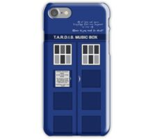 Tardis Music Box Case iPhone Case/Skin