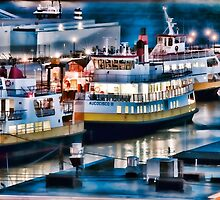 Casco Bay Lights by Richard Bean