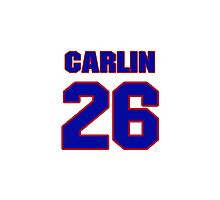 National baseball player Luke Carlin jersey 26 Photographic Print